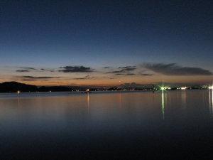 薄暮の米子湾