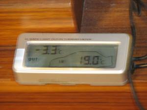 氷点下3.3℃