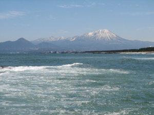 白砂青松と大山