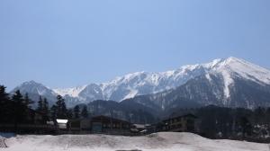 残雪の大山
