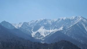 残雪の大山北壁